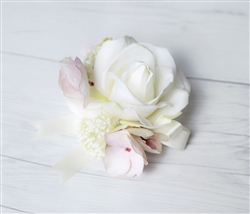 Real Touch Rose Hydrangea Corsage in Any Color
