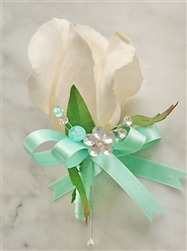 Real Touch Rose Bud Silk Wedding Corsage in Any Color