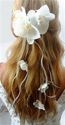 Natural Touch Orchids Hair Piece Comb