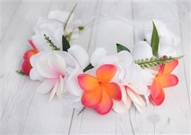 Plumeria Beach Tropical  Flower Girl Head Wreath Hairpiece Halo