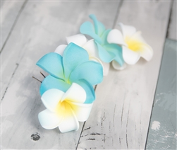 Plumeria Wedding Off White Head Wreath Bride or Flower Girls Crown.