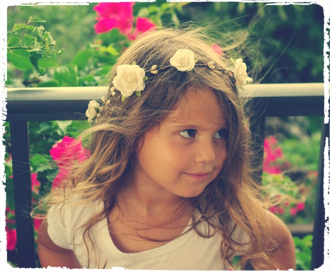 Heart and Rosebud Bridal or Flower Girl Floral Ribbon Crown Halo Piece Wreath Garland lilac lavender C-Jennifer Flower Girl Head Wreath