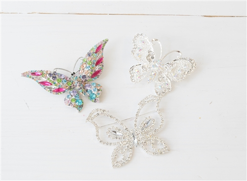 Rhinestone Brooch Butterfly - Rhinestone, Diamonds and Crystals