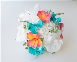 Flower Girl Roses Tropical Beach Wedding Pomander  - Your Colors!