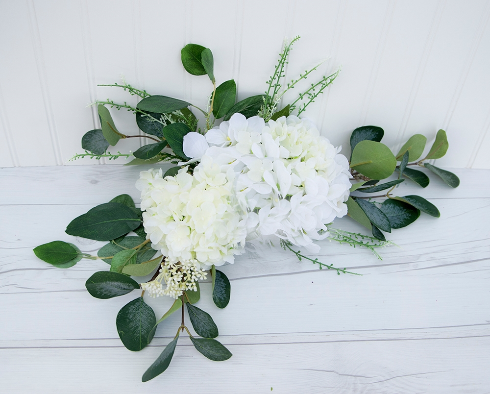 Wedding Arch Pew Eucalyptus Tie Backs Flower Mix Real Touch Silk Corner Or Sign Wedding Swag Arch Or Table Decor