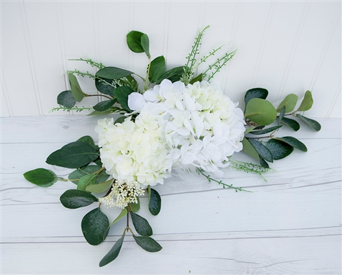 Wedding Arch Pew Eucalyptus Tie Backs Flower Mix Real Touch Silk Corner or Sign Wedding Swag Arch