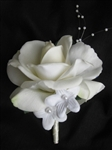 Natural Touch Open Rose Corsage