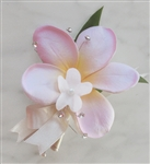 Natural Touch Plumeria Corsage