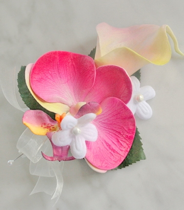 Natural Touch Calla Orchid Corsage Made For You