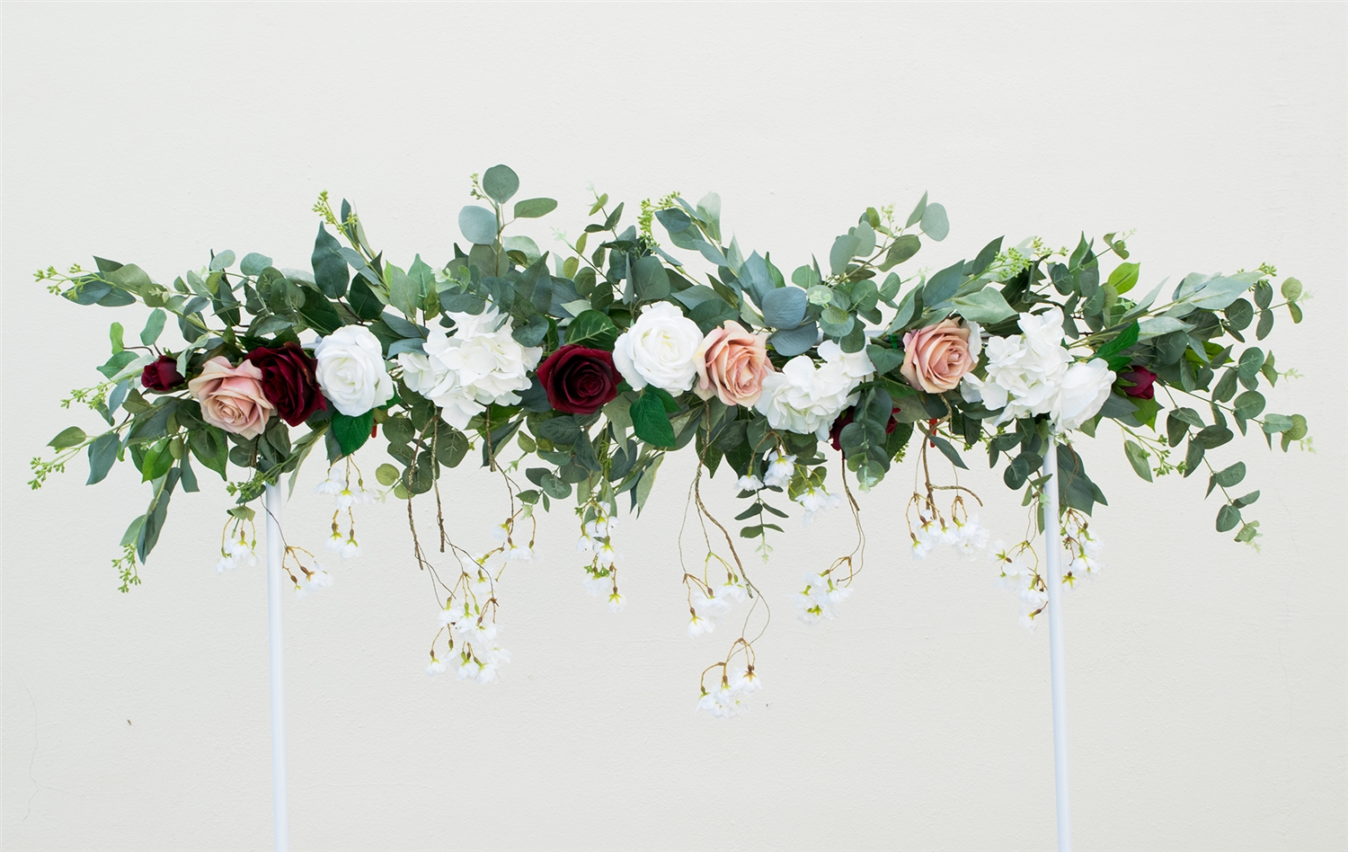 Beautiful Boho Rustic Eucalyptus Swag Flower Mix Wedding Arch Garland Your Colors And Flowers