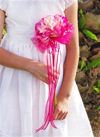 Flower Girl Peony Rustic Garden Boho Wand- Your Colors!