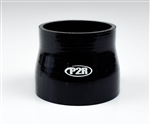 "P2R 3"" to 3.25""  Black Silicone Coupler 3 Ply"