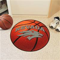 "Nevada Wolfpack Basketball Rug 29"" diameter"