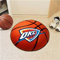 "Oklahoma City Thunder Basketball Mat 29"" Diameter"