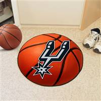 "San Antonio Spurs Basketball Mat, 29"" Diameter"
