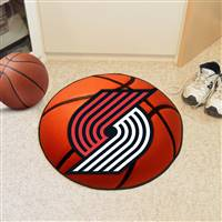 "Portland Trail Blazers Basketball Mat, 29"" Diameter"
