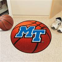 "Middle Tennessee State (MTSU) Blue Raiders Basketball Rug 29"" Diameter"