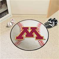 "Minnesota Golden Gophers Baseball Rug 29"" Diameter"