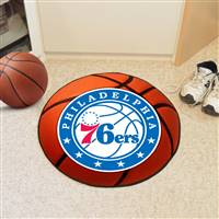 "Philadelphia 76ers Basketball Mat, 29"" Diameter"