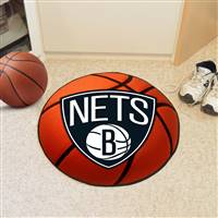 "Brooklyn Nets Basketball Mat 29"" Diameter"