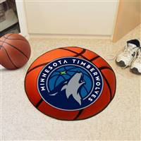 "Minnesota Timberwolves Basketball Mat 29"" Diameter"