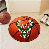 "Milwaukee Bucks Basketball Mat 29"" Diameter"