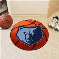 "Memphis Grizzlies Basketball Mat 29"" Diameter"