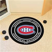 "Montreal Canadiens Puck Mat, 29"" Diameter"