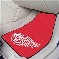 "NHL - Detroit Red Wings 2-pc Carpet Car Mat Set 17""x27"""