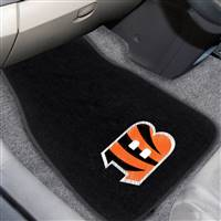 "NFL - Cincinnati Bengals 2-pc Embroidered Car Mat Set  17""x25.5"""