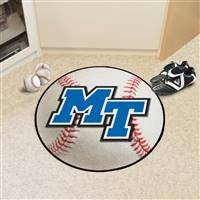 "Middle Tennessee State (MTSU) Blue Raiders Baseball Rug 29"" diameter"
