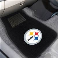 "NFL - Pittsburgh Steelers 2-pc Embroidered Car Mat Set 17""x25.5"""