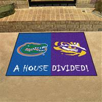 "House Divided - Florida / LSU House Divided Mat 33.75""x42.5"""
