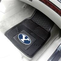 "Brigham Young University 2-pc Vinyl Car Mat Set 17""x27"""