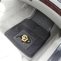 Colorado Buffaloes 2-pc Heavy Duty Vinyl Car Mat Set