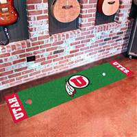 "University of Utah Putting Green Mat 18""x72"""