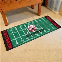 "University of Nebraska Football Field Runner 30""x72"""