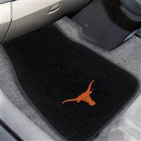 "University of Texas 2-pc Embroidered Car Mat Set 17""x25.5"""