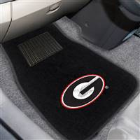"University of Georgia 2-pc Embroidered Car Mat Set 17""x25.5"""
