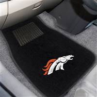 "NFL - Denver Broncos 2-pc Embroidered Car Mat Set 17""x25.5"""