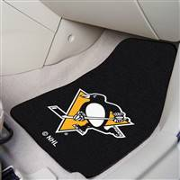"NHL - Pittsburgh Penguins 2-pc Carpet Car Mat Set 17""x27"""