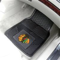 "NHL - Chicago Blackhawks 2-pc Vinyl Car Mat Set 17""x27"""
