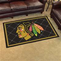"NHL - Chicago Blackhawks 4x6 Rug 44""x71"""