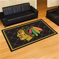 "NHL - Chicago Blackhawks 5x8 Rug 59.5""x88"""