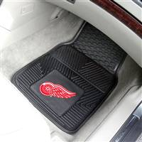 "NHL - Detroit Red Wings 2-pc Vinyl Car Mat Set 17""x27"""