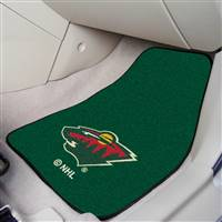 Minnesota Wild 2-pc Printed Carpet Car Mat Set