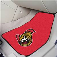 Ottawa Senators 2-pc Printed Carpet Car Mat Set