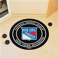"New York Rangers Puck Mat, 29"" Diameter"