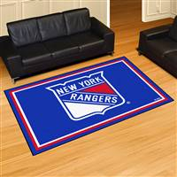 New York Rangers 5x8 Area Rug