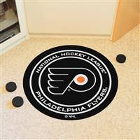 "Philadelphia Flyers Puck Mat, 29"" Diameter"